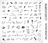 hand drawn arrows  vector set | Shutterstock .eps vector #1130143898