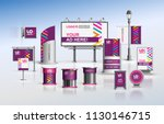 purple outdoor advertising... | Shutterstock .eps vector #1130146715
