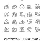 cafe well crafted pixel perfect ... | Shutterstock .eps vector #1130149052
