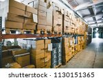 cargo cardboard boxes for... | Shutterstock . vector #1130151365