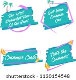 summer brush vector banners in... | Shutterstock .eps vector #1130154548