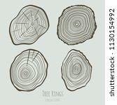 tree rings texture collection.... | Shutterstock .eps vector #1130154992