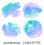 watercolor stains set gradient... | Shutterstock . vector #1130157755