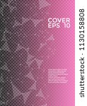 trendy cover page layout.... | Shutterstock .eps vector #1130158808
