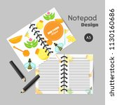 honey organizer with flat honey ... | Shutterstock .eps vector #1130160686
