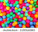 many colorful plastic balls | Shutterstock . vector #1130162882