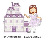 illustration of a kid girl... | Shutterstock .eps vector #1130165528
