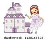 illustration of a kid girl... | Shutterstock .eps vector #1130165528
