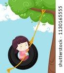 illustration of a kid girl... | Shutterstock .eps vector #1130165555
