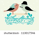 happy  anniversary card design... | Shutterstock .eps vector #113017546
