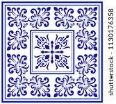 ceramic tile pattern  porcelain ... | Shutterstock .eps vector #1130176358