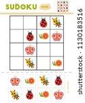 sudoku for children  education... | Shutterstock .eps vector #1130183516