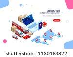 distribution  global factory... | Shutterstock .eps vector #1130183822