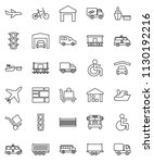 thin line vector icon set  ... | Shutterstock .eps vector #1130192216