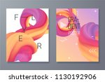 dynamic shapes composition. 3d... | Shutterstock .eps vector #1130192906
