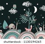 cute kids background. fairy... | Shutterstock .eps vector #1130194265