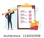 positive business man with a... | Shutterstock .eps vector #1130202908