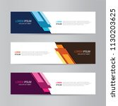 vector abstract web banner... | Shutterstock .eps vector #1130203625