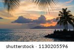 scenic landscape of tahiti at... | Shutterstock . vector #1130205596