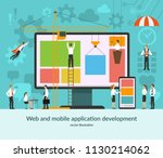web and mobile application... | Shutterstock .eps vector #1130214062