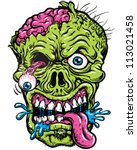 detailed zombie head... | Shutterstock .eps vector #113021458