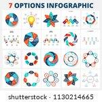 set of vector infographic... | Shutterstock .eps vector #1130214665
