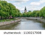 turku  finland   8 7 2018  ... | Shutterstock . vector #1130217008