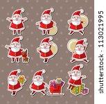 cartoon santa claus christmas... | Shutterstock .eps vector #113021995