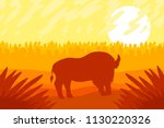 landscape with wild strong... | Shutterstock .eps vector #1130220326