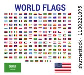 all official national flags of...   Shutterstock .eps vector #1130221895