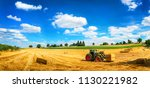 rural landscape in vivid blue...   Shutterstock . vector #1130221982