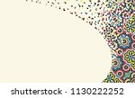 morocco disintegration template.... | Shutterstock .eps vector #1130222252