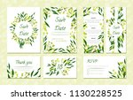 eucalyptus design. wedding... | Shutterstock .eps vector #1130228525