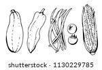 vegetables set vector...   Shutterstock .eps vector #1130229785