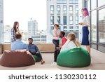young creative multiethnic... | Shutterstock . vector #1130230112