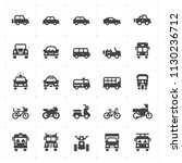 icon set   vehicle and... | Shutterstock .eps vector #1130236712