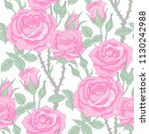 floral seamless pattern with... | Shutterstock .eps vector #1130242988