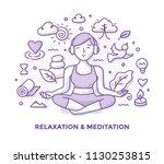 illustration of woman ... | Shutterstock .eps vector #1130253815