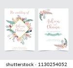 geometry gold wedding... | Shutterstock .eps vector #1130254052