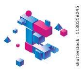 bright vowel letter e concept... | Shutterstock .eps vector #1130256245