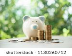 close up of stacking money... | Shutterstock . vector #1130260712