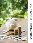 close up of stacking money... | Shutterstock . vector #1130260715