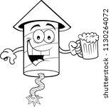 black and white illustration of ... | Shutterstock .eps vector #1130264072