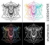 bull graphic illustration t... | Shutterstock .eps vector #1130264705