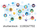 remote teamwork  collaboration... | Shutterstock .eps vector #1130267702