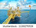 offshore oil and gas central... | Shutterstock . vector #1130270528
