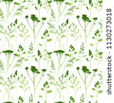 seamless pattern with herbal... | Shutterstock .eps vector #1130273018