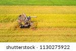 combine harvester machine with... | Shutterstock . vector #1130275922