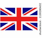 flag of great britain union jack | Shutterstock .eps vector #1130280632