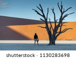 young man photographer and... | Shutterstock . vector #1130283698